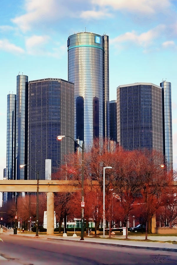 The Detroit Renaissance Center Photograph  - The Detroit Renaissance Center Fine Art Print