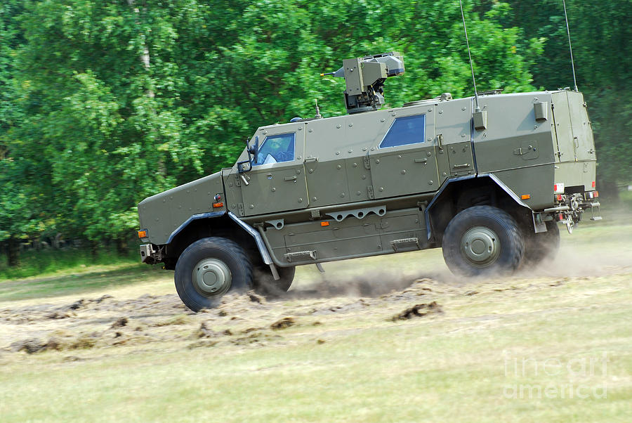 The Dingo 2 In Use By The Belgian Army Photograph