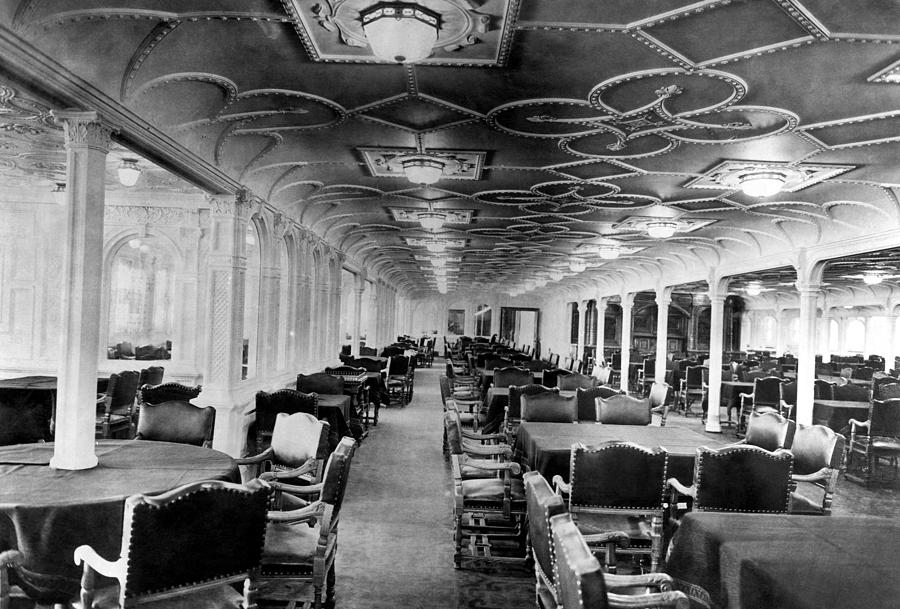 the dining room of the rms titanic by everett