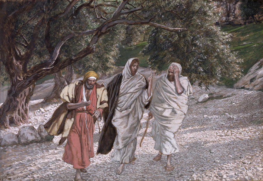 The Disciples On The Road To Emmaus Painting