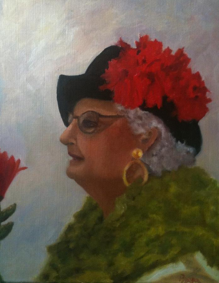People Painting - The Diva by Betty Pimm