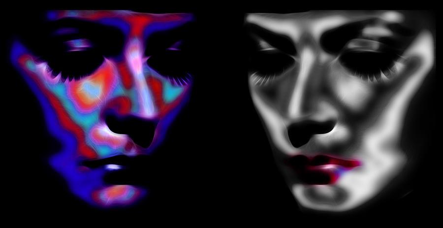 Greta Garbo Modern Digital Painting Pop Art Golden Twenties 20s Silent Hollywood  Digital Art - The Divine 3 by Steve K