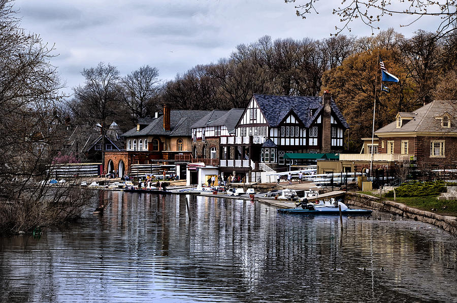 The Docks At Boathouse Row - Philadelphia Photograph  - The Docks At Boathouse Row - Philadelphia Fine Art Print