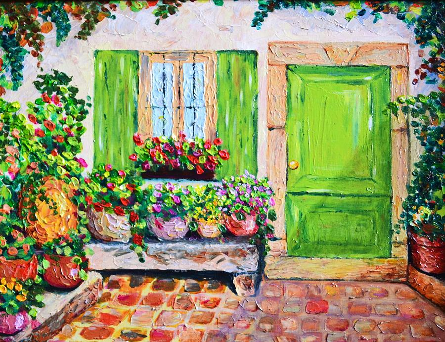 The Door Painting  - The Door Fine Art Print