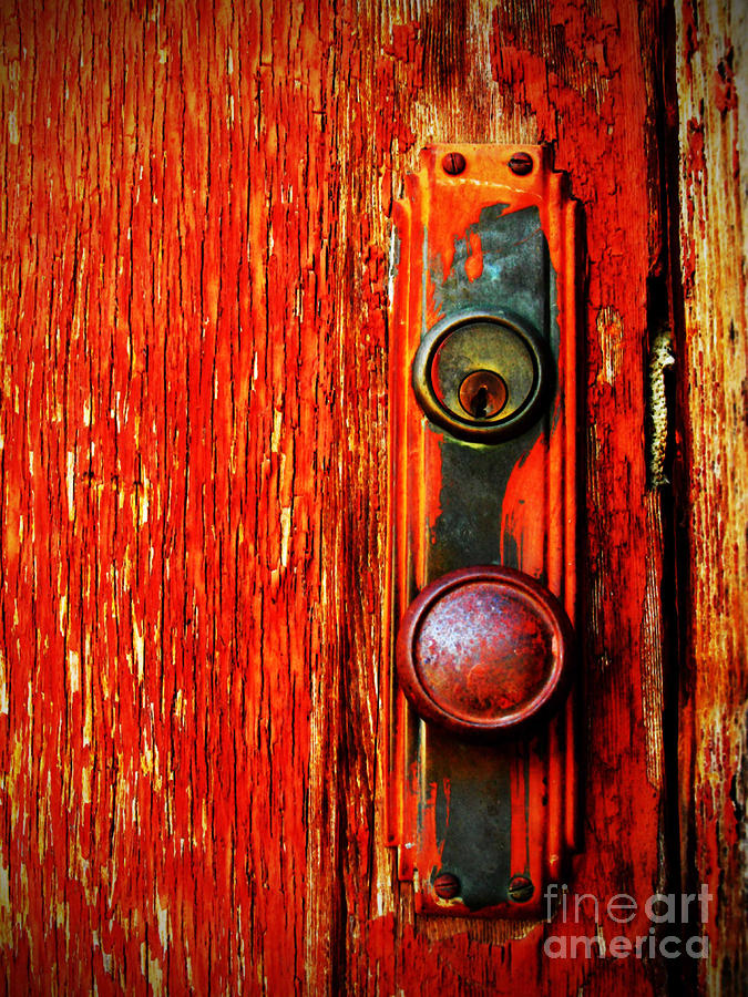 The Door Handle  Photograph  - The Door Handle  Fine Art Print