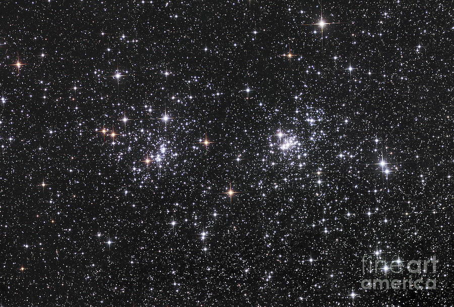 The Double Cluster, Ngc 884 And Ngc 869 Photograph