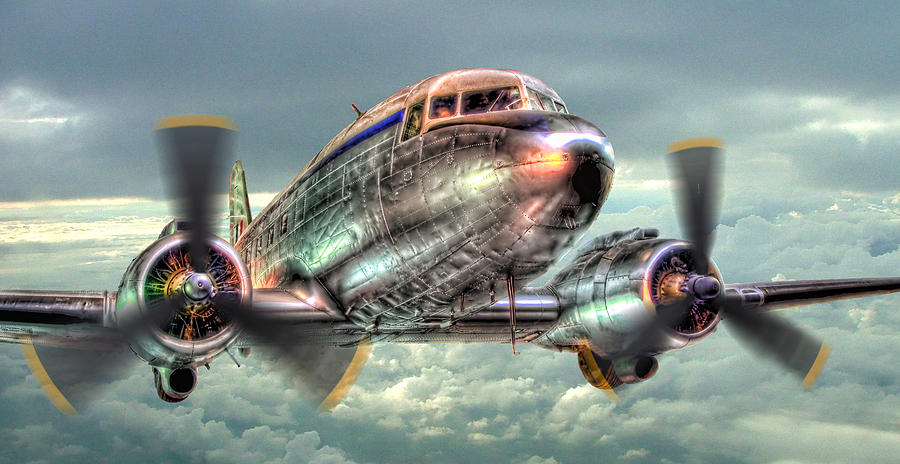 The Douglas C47 Dakota - Hdr Photograph  - The Douglas C47 Dakota - Hdr Fine Art Print