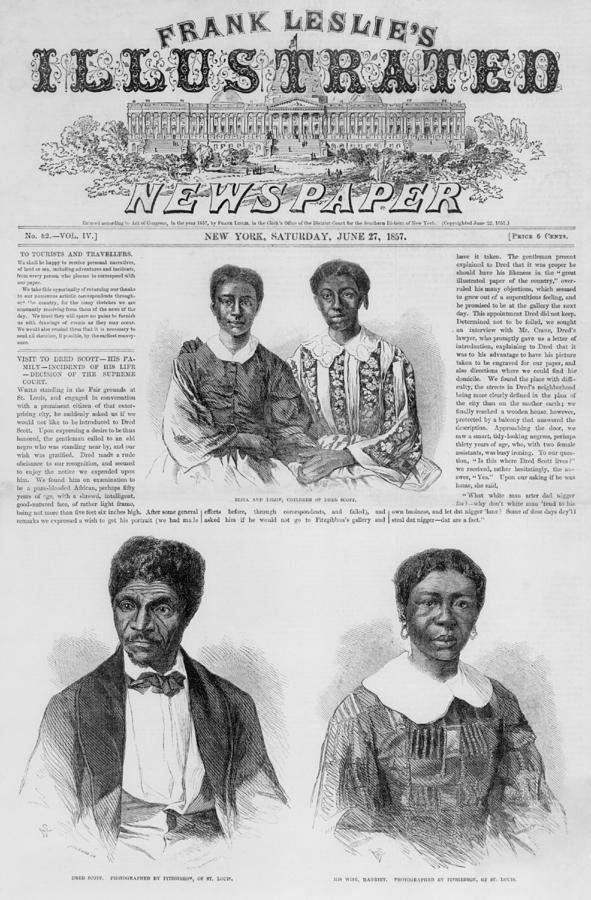 The Dred Scott Family On The Front Page Photograph  - The Dred Scott Family On The Front Page Fine Art Print