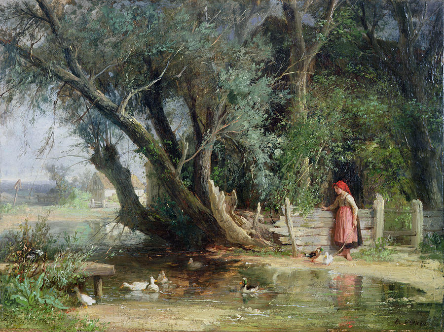 The Duck Pond Painting