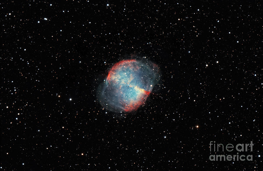 Constellation Photograph - The Dumbbell Nebula by Rolf Geissinger