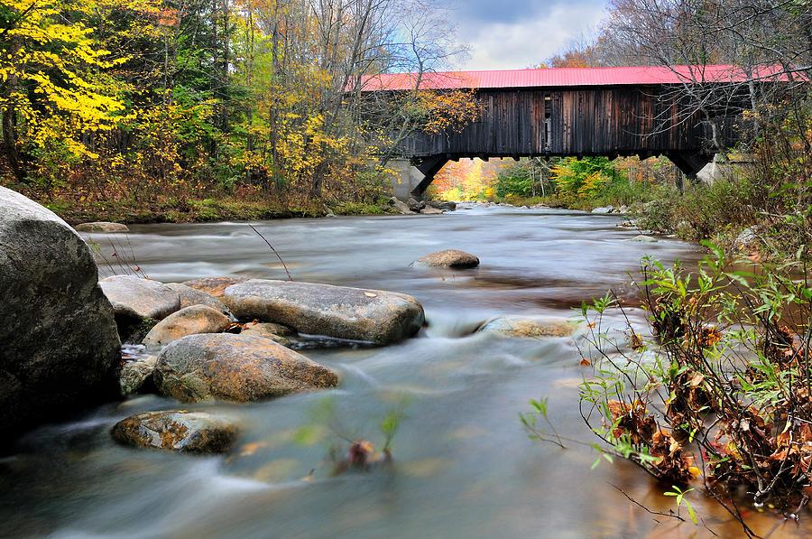 The Durgin Covered Bridge - Sandwich Nh Photograph