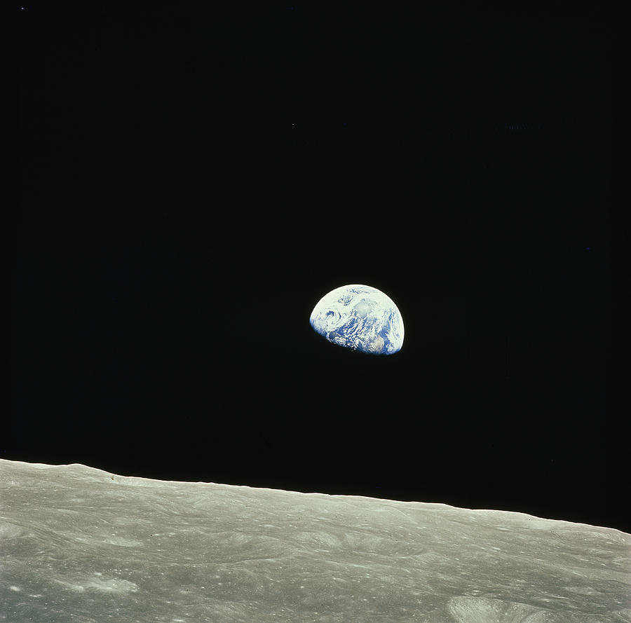 The Earth As Seen From Apollo 8 Photograph by Nasa