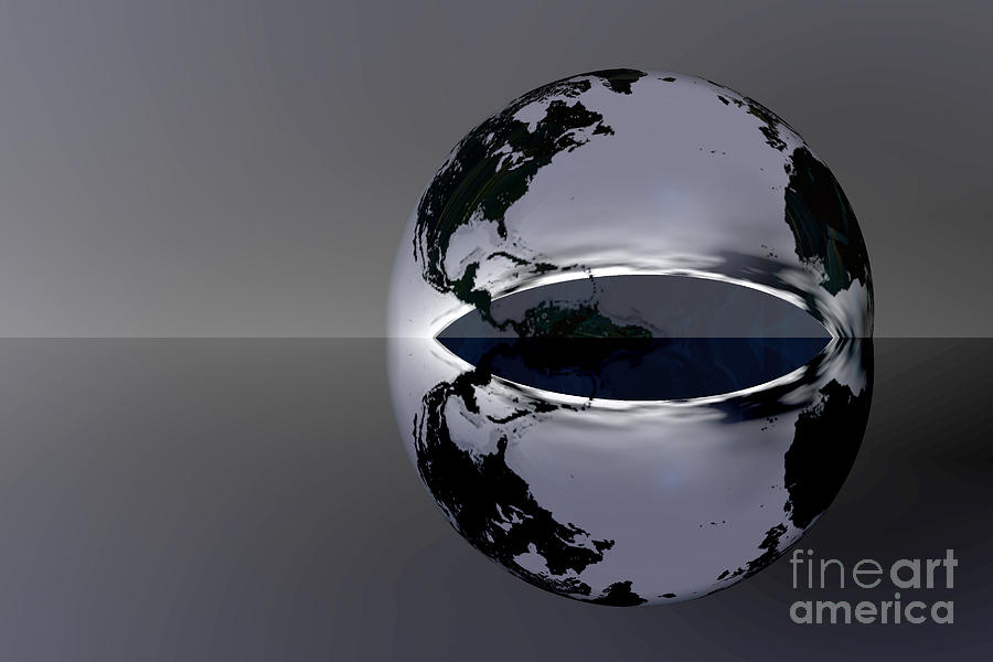 The Earth Reflection Digital Art  - The Earth Reflection Fine Art Print