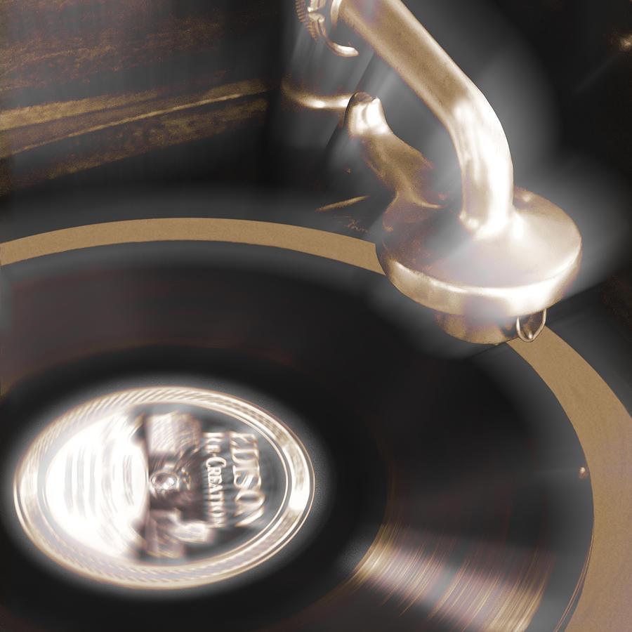 The Edison Record Player Photograph