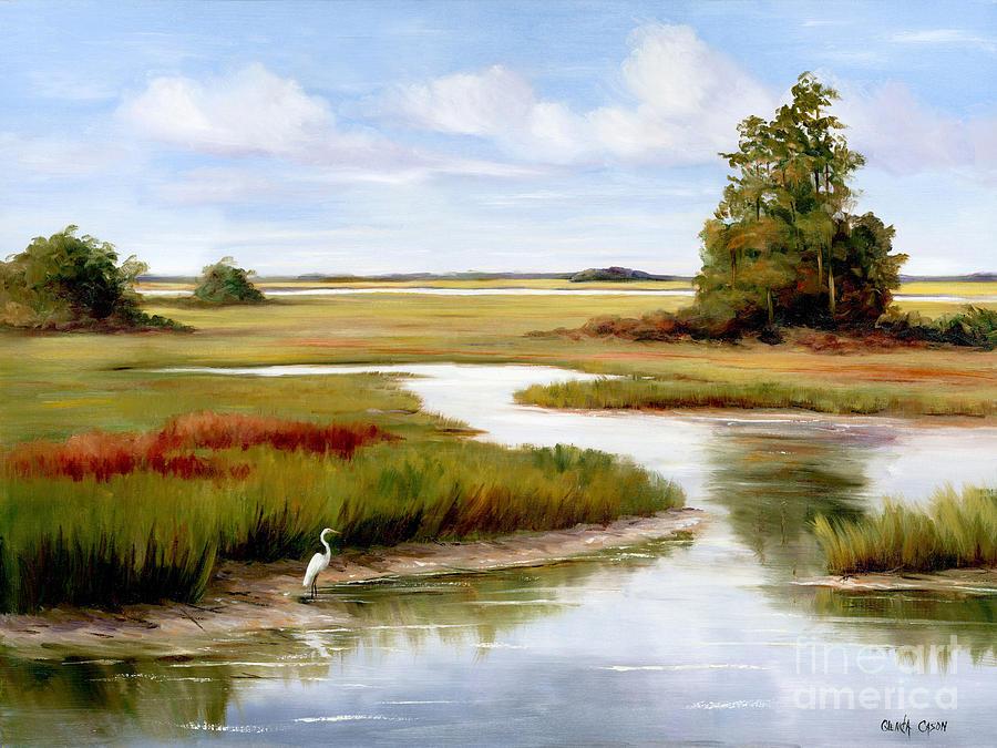 The Egrets World By Glenda Cason