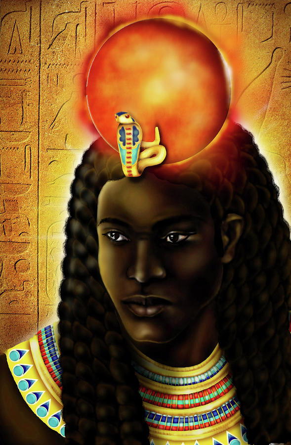 The Egyptian God Ra  Digital Art  - The Egyptian God Ra  Fine Art Print