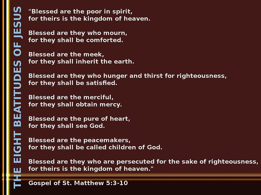 The Eight Beatitudes Of Jesus Digital Art