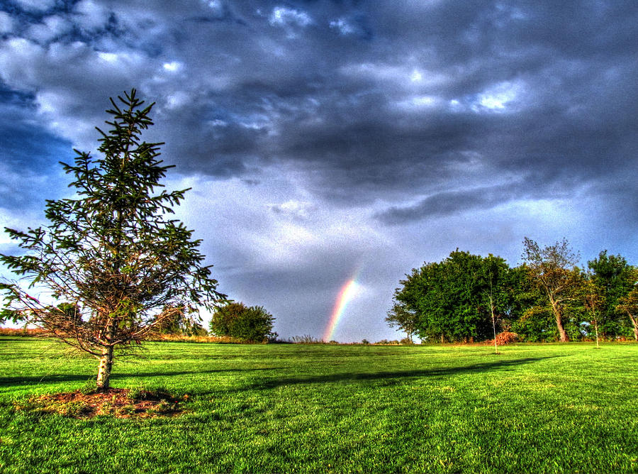 Hdr Photography Photograph - The End Of A Rainbow by Jackie Novak