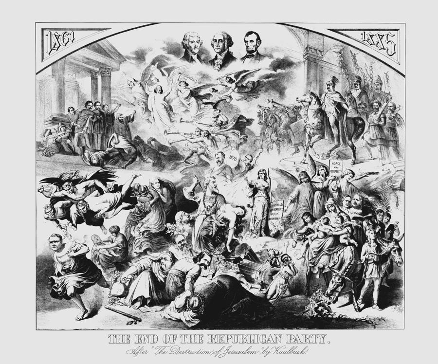 The End Of The Republican Party Drawing  - The End Of The Republican Party Fine Art Print
