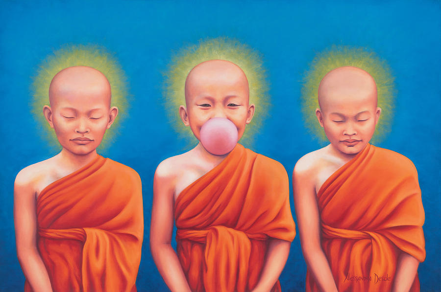 The Enlightened One Painting  - The Enlightened One Fine Art Print