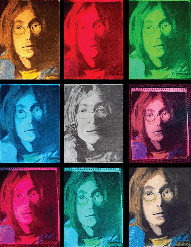 The Essence Of Light- John Lennon Drawing