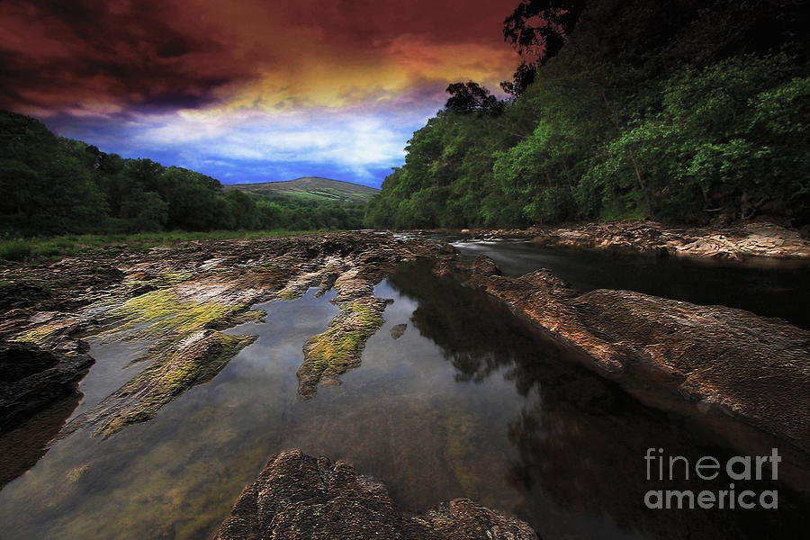 The Evening River Photograph  - The Evening River Fine Art Print
