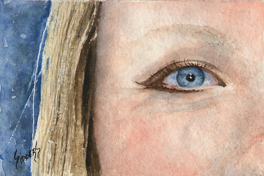 Eye Painting - The Eyes Have It - Shannon by Sam Sidders