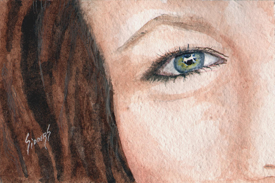 The Eyes Have It-jenifer Painting  - The Eyes Have It-jenifer Fine Art Print