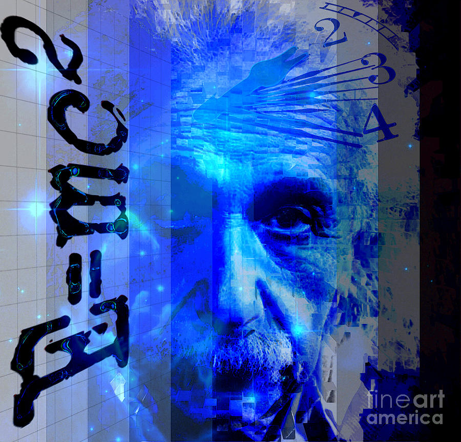 The Face Of Time Digital Art  - The Face Of Time Fine Art Print