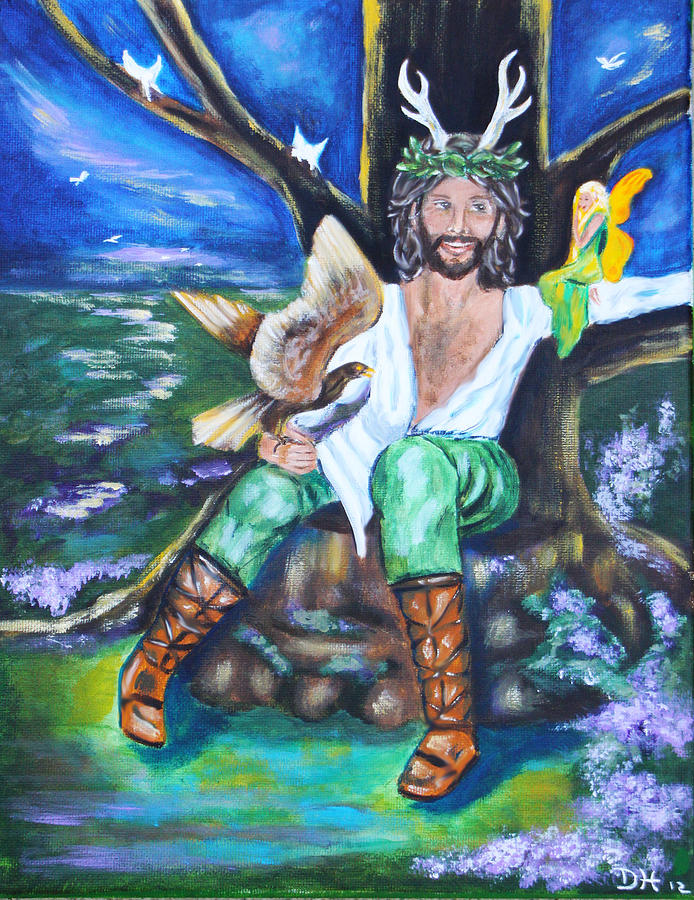 The Faery King Painting  - The Faery King Fine Art Print