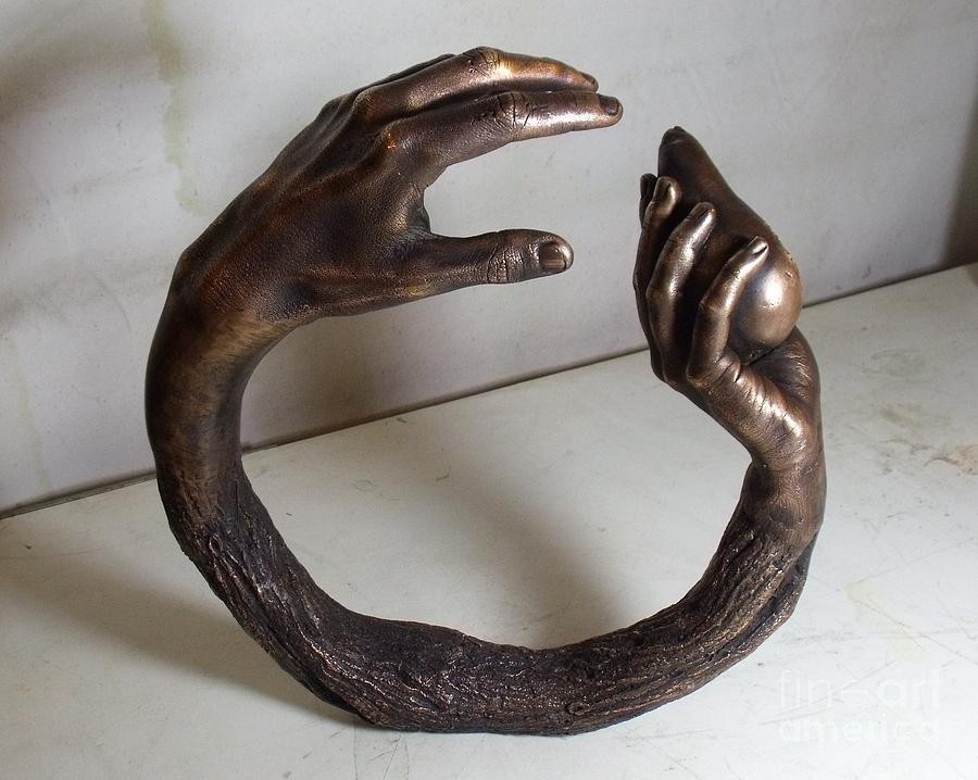 Hand Sculpture - The Fall by Mariusz Szewczyk