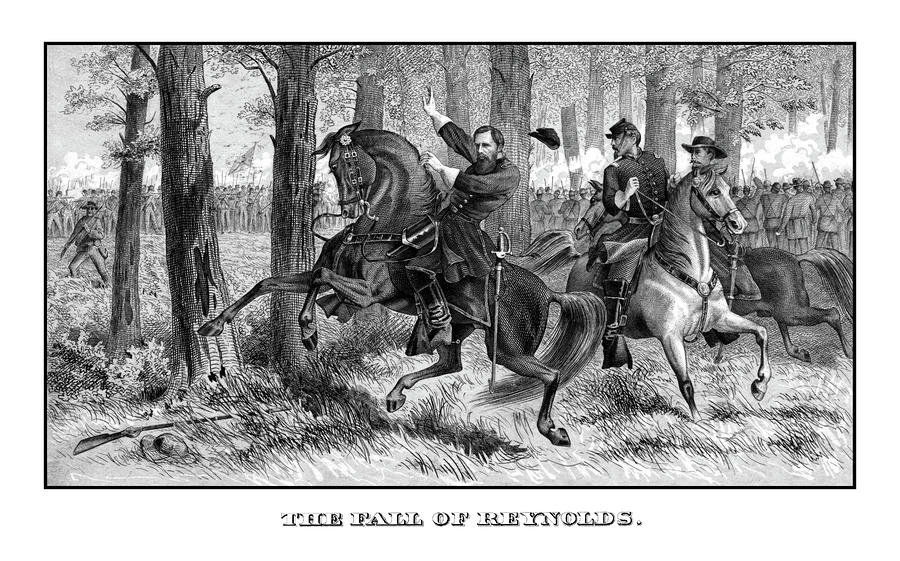 The Fall Of Reynolds Painting  - The Fall Of Reynolds Fine Art Print