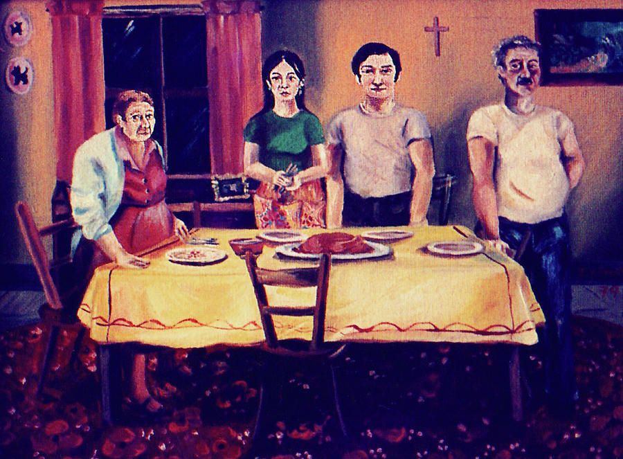 The Family Dinner Painting