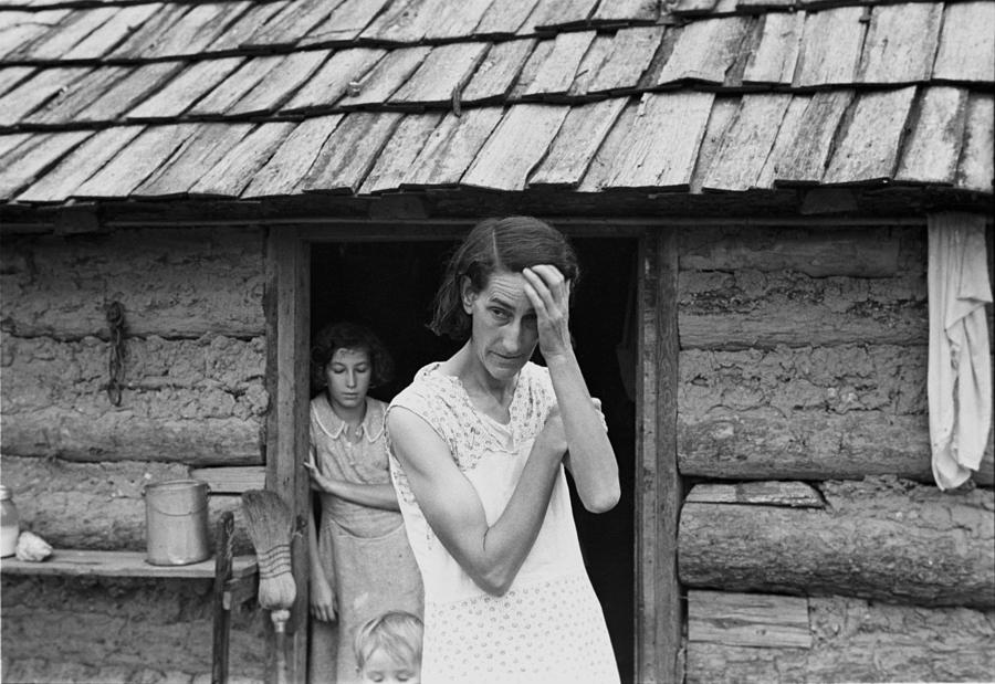 The Family Of Poor Farmer In Boone Photograph  - The Family Of Poor Farmer In Boone Fine Art Print