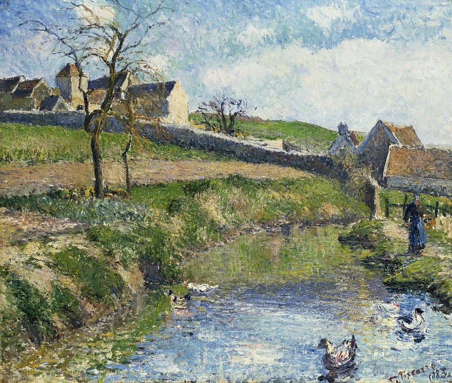 The Farm At Osny Painting