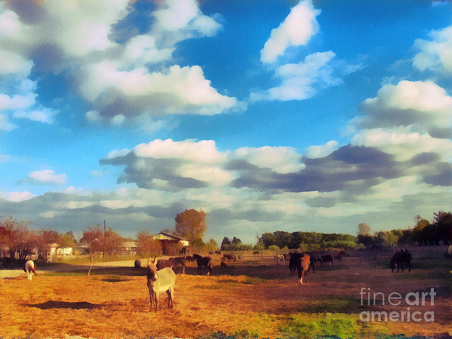 The Farm Painting  - The Farm Fine Art Print