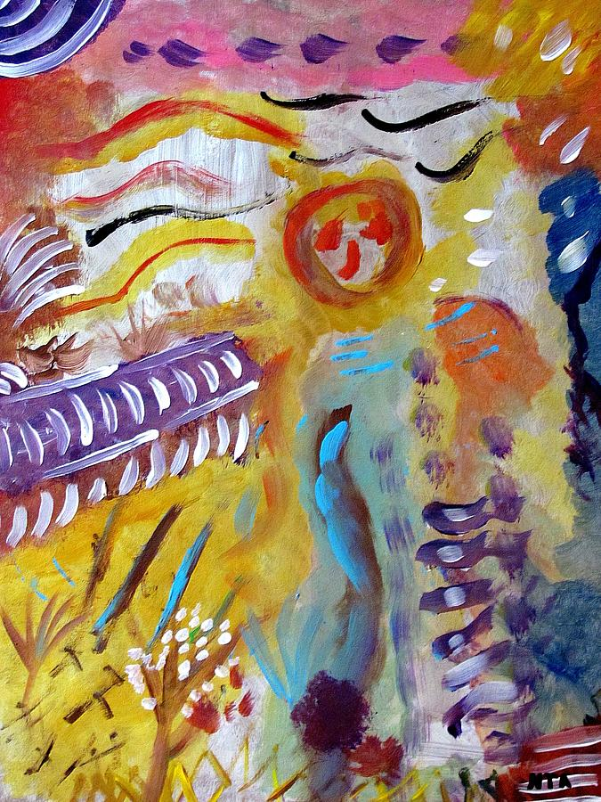 Surreal Painting - The Farmer by Noorit Talari
