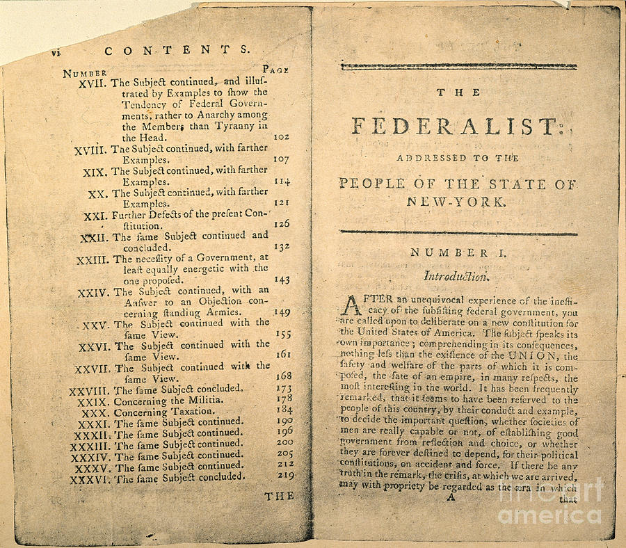 Federalist Essay Number  Federalism Essay Research Paper The   Federalism Essay Research Paper The Federalist Papers