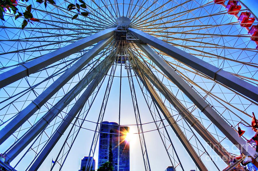 The Ferris Wheel At Navy Pier Photograph