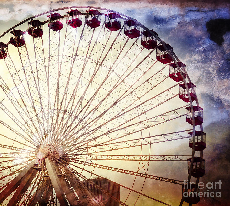 The Ferris Wheel At Navy Pier Photograph  - The Ferris Wheel At Navy Pier Fine Art Print