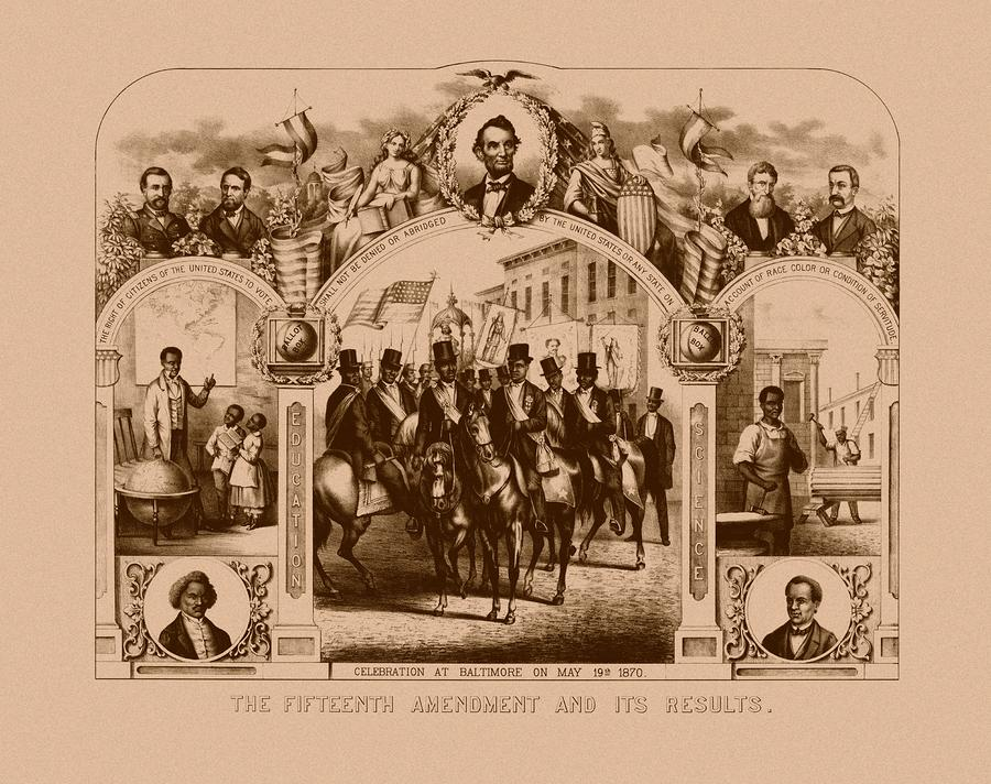 The Fifteenth Amendment And Its Results Painting  - The Fifteenth Amendment And Its Results Fine Art Print