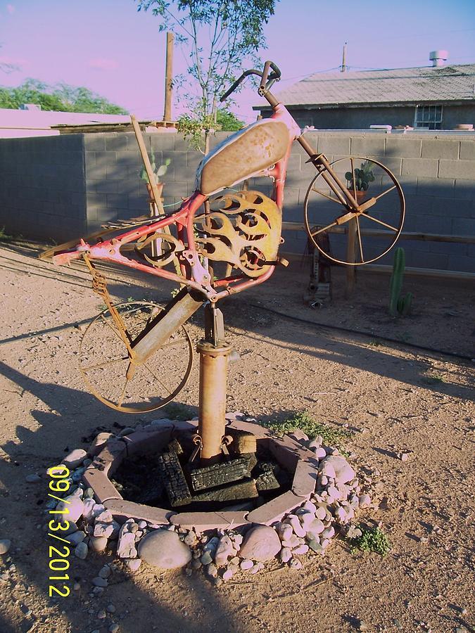 The Fire Bike Sculpture