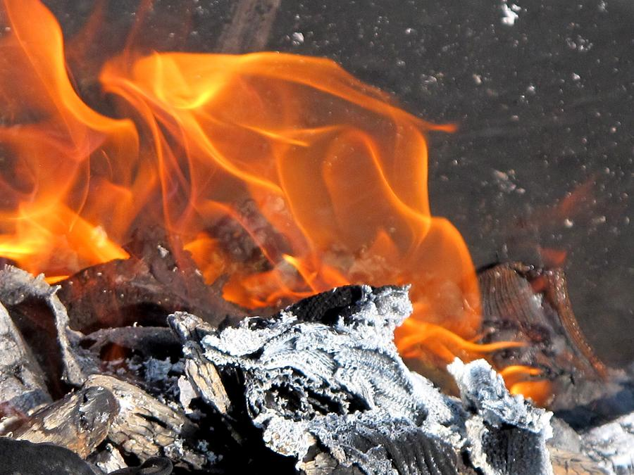 Fire Photograph - The Fire Within Us by Valia Bradshaw