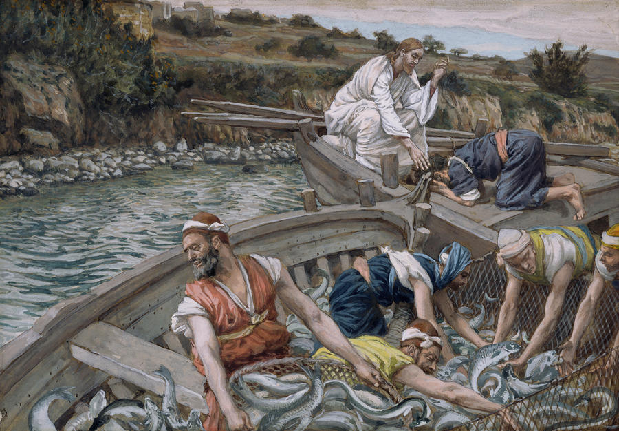 The First Miraculous Draught Of Fish Painting