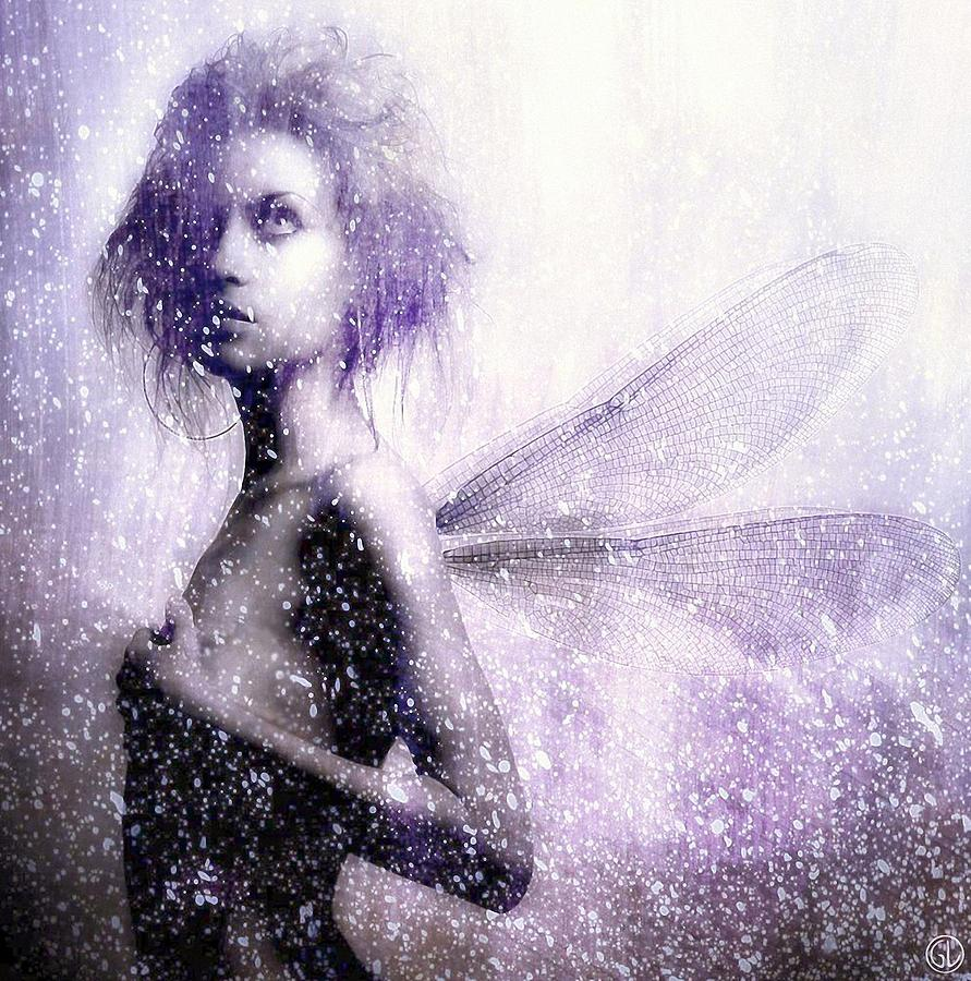 The First Spring Fairy Digital Art  - The First Spring Fairy Fine Art Print