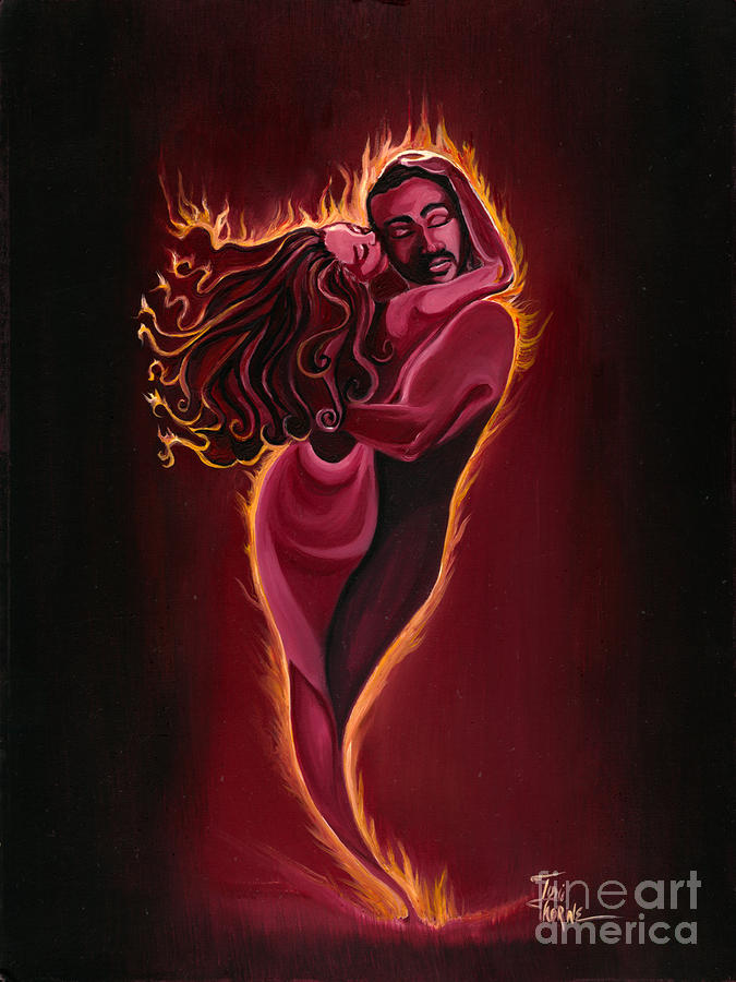 The Flame Painting  - The Flame Fine Art Print
