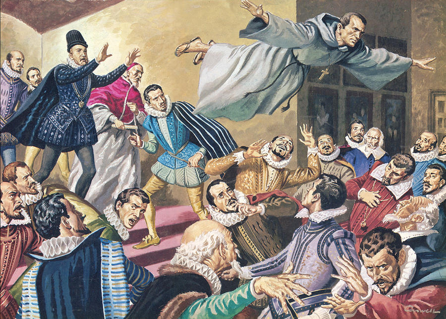 The Flight Of Father Dominic Painting