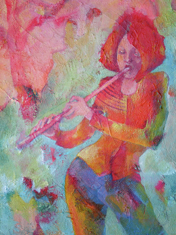 The Flute Player Painting  - The Flute Player Fine Art Print