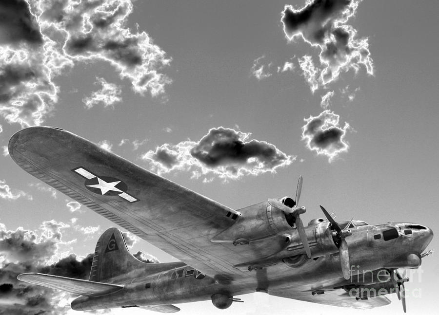 The Flying Fortress Photograph  - The Flying Fortress Fine Art Print