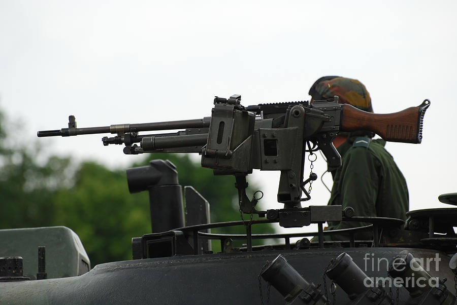 The Fn Mag Gun On The Turret Photograph
